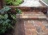 作庭/プロバンス風(花壇が高く、レンガステップをつけました。)