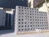 フェンスの代わりにブロックで目隠し(実用性をデザインしました。)