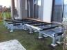 オープンスタイルの中庭ウッドデッキ 基礎:土台 施工例