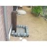ピンコロと古材で組んだオリジナル立水栓