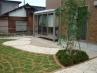 石貼りと芝生の洋風ガーデン工事 施工例2