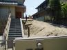 施工前  階段脇スペースの植栽スペース(法面)のリフォーム