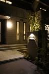 ■門柱や花壇に照明を設置 施工例2