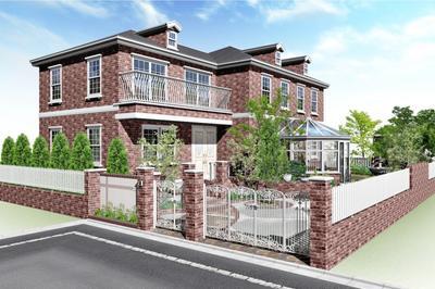 オーセブンCAD 07ギャラリー プラン 111 ジョージアン様式の洋風住宅と洋風ガーデンプラン /