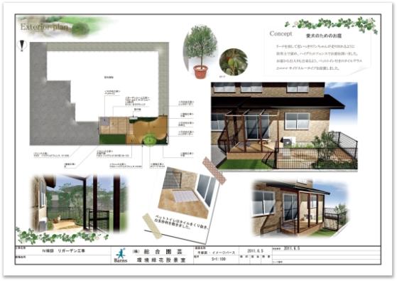 株式会社総合園芸 八田真理子様 「愛犬のためのお庭」
