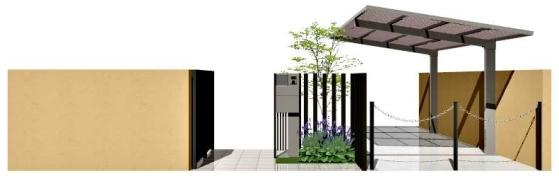 【お庭のお遊びプランナー】門まわり・車庫まわり・道路境界まわりプラン