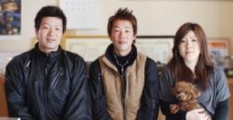 西村さん・伊藤さん・西村さんの奥様とココちゃん