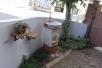 入ってすぐ右側。手の届く高さに蛇口のあるガーデン立水栓があります。昨年11月に発売開始されたばかりの「スタンドウォッシュ リリー」です。これならば、庭仕事の後しゃがんだりせずに手を洗ったりして使えそうです。