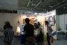 人だかりがあったので、何々?とのぞき込んだところ、手描きパースの実演を行っているところでした。日本パーステック協会の展示ブース。