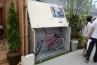 ガーデナップの英国製自転車倉庫 TM3。コンパクトに収納しやすい形状とつくり。
