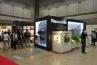 パナソニック エコソリューションズ社のブースは、エクステリア照明とポストがメインの展示。