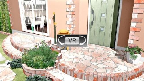 ファンシーな洋風エクステリアプラン VR動画