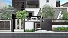 都市近郊のクローズドなモダン住宅 全景VR動画