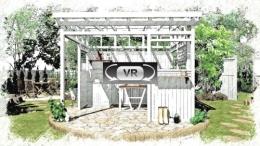 クリックしてみて下さい:森の中のパーゴラプラン SPパレット仕上 VR動画3D