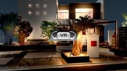天然石を活かしたナチュラルモダンな南国風プラン:夜景VR動画