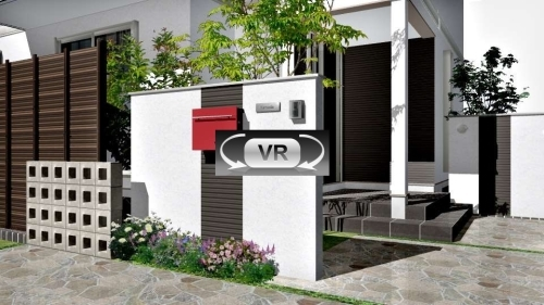 和モダンスタイルのオープンエクステリア:VR動画