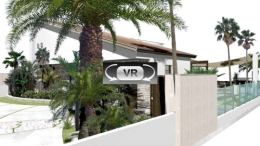 海沿いのリゾートを楽しむためのエクステリア・ガーデンプラン:VR