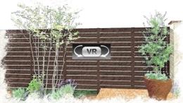 高低差のあるプロヴァンス風セミオープンスタイルプラン:ガーデンVR