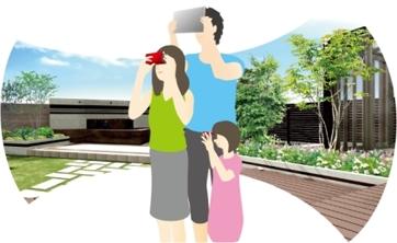 「昼」「夜」「手書き風」「VR」ワンタッチです。