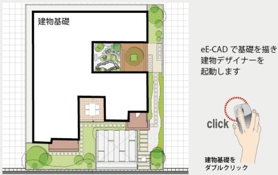 部分作図で、「室内からの眺め」が完成します