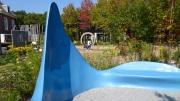 青い静穏の庭
