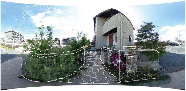 施工後のお庭にバーチャル内覧!「360°VR写真合成」