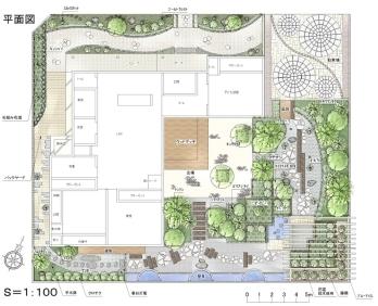 オーセブン・デザイン・コンテスト入選作品「幸せが廻る壁泉庭園」