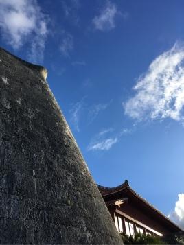 琉球石灰岩の城壁