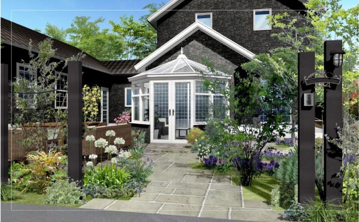 コンバサトリーのあるお庭