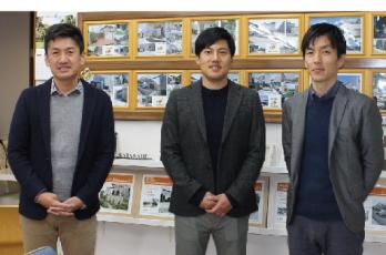 店長の堀尾さん、エクステリアプランナーの岡さんと葛山さん