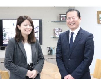 岩田社長と設計プランナーの渡邊さん