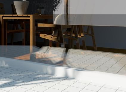 明度によるガラスの透過