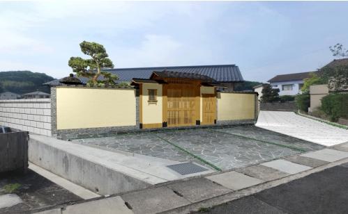 純和風住宅に調和する門構えAfter