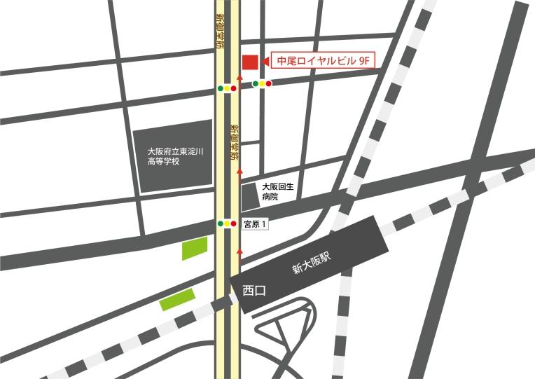 大阪新事務所地図