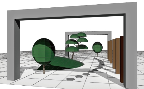 立体空間の教材テンプレート「空間トレーニング」