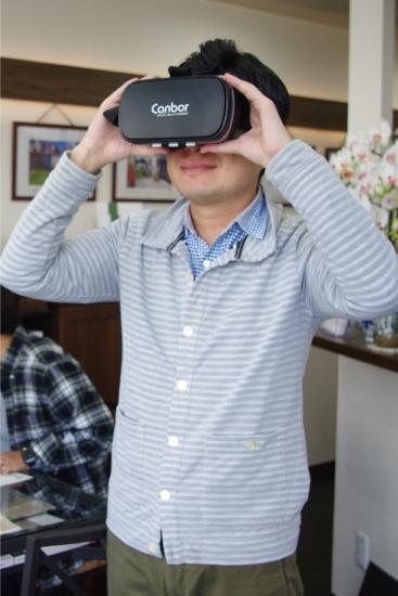360°VRパースをVRゴーグルでご提案