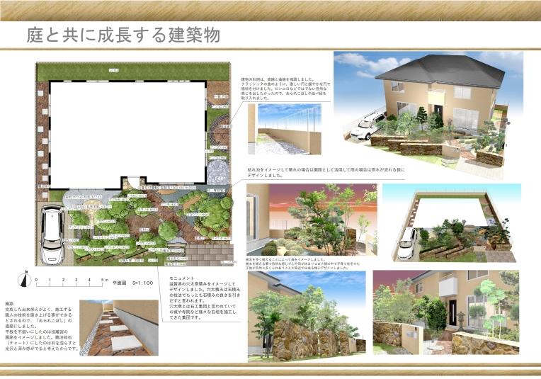 庭と共に成長する建築物