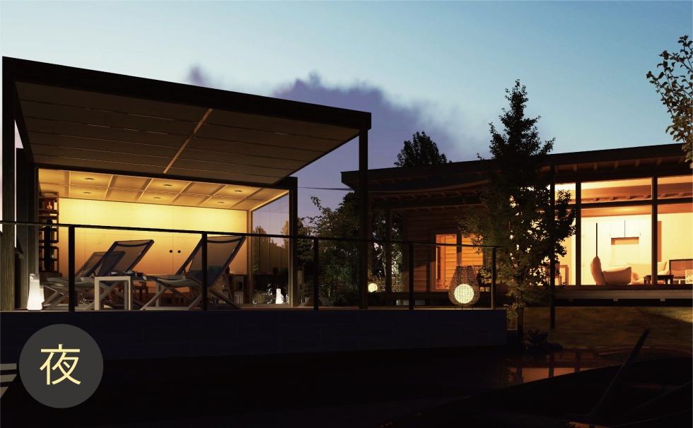 昼間も夜景も自動光源でパースがきれい!