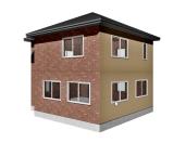 建物の外壁の色を面ごとに貼り分けする方法