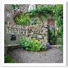 木と石とスチールを 違和感なく纏めているのは 塀の足元と笠置の緑。