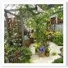 ソファに掛けてお花を堪能できるお庭です。人が多くて微妙なアングルに・・・