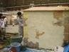 塗り壁の実演