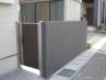 勝手口用の門扉はメイン門扉と同シリーズ  施工例