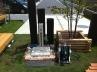 オープンスタイルの中庭水まわり 施工例