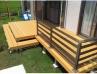 オープンスタイルの中庭ウッドデッキ 施工例