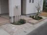 植栽スペースを設け、柔らかな印象に。