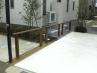 分譲住宅3棟 ウッド柱、コンクリート、樹木、のシンプルプラン 施工例3