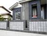 スリットを三箇所設けたコンクリート打ちっぱなし風デザインプラン 施工例3