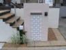 ジョリパット門柱にタイル貼りでアクセント仕上げ 施工例