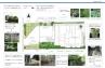 階段脇の法面を利用した立体感のある植栽スペース計画